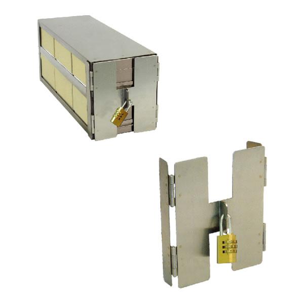 立式冰箱(抽屉式)分隔架的安全锁定装置