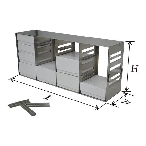 存放2英寸、3英寸和3.75英寸高度标准盒的立式冰箱分隔架---UFMC系列