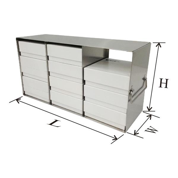 存放2英寸、3英寸和3.75英寸高度标准盒的立式冰箱分隔架---UF系列